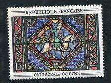 Timbre FRANCE neuf TB** YT n° 1427 : Art : Vitrail à SENS - 1964/65
