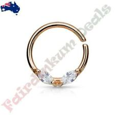 Cubic Zirconia 16g (1.2 mm) Ring Body Piercing Jewellery