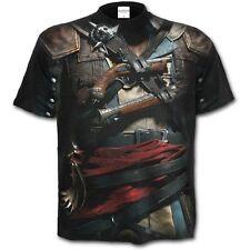 Spiral Direct Assassins Creed IV Schwarz Flagge Überall Lizenziert T Shirt/Top/T