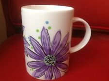 Hudson & Middleton Taza Taza de flor de color púrpura Bramble Margaritas nuevo Porcelana Fina