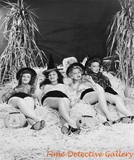 Halloween Pin-up Girls in The Straw - Vintage Photo Print