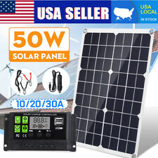 50W USB Flexible Solar Panel Kit + 10/20/30A Controller Outdoor Charger