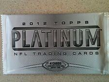 2012 TOPPS PLATINUM FOOTBALL PACKS RUSSELL WILSON LUCK ~ AUTO? Stocking Stuffer?