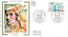 FRANCE FDC - 2610 2 AUGUSTE CAUCHY - SCEAUX 10 Novembre 1989 - LUXE sur soie