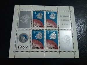 Romania  - 1969 -  Apollo 12-  mint never hinged  - Stamps sheet