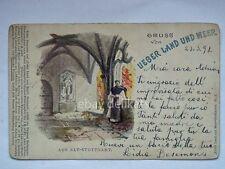 STUTTGART ALT Gruss von UEBER LAND UND MEER Stoccarda AK old postcard