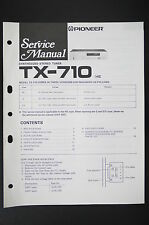 PIONEER TX-710 Original Synthesized Stereo Tuner Service-Manual/Schaltplan o105