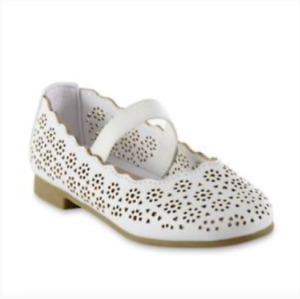 Girl's Mary Jane White Shoes Sizes 8 11 Simply Styled Toddler