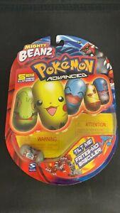 2004 Mighty Beanz Pokemon Advanced 5-Pack NIP