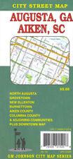 City Street Map of Augusta, Georgia & Aiken, South Carolina, by GMJ Maps