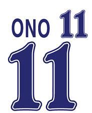 Japan Ono Nameset 1998 Shirt Soccer Number Letter Heat Print Football Away