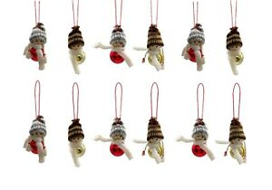 12 Stück Weihnachtsfiguren Hängen Weihnachtswichtel Christbaumschmuck Wichtel