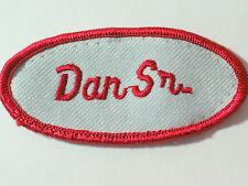Dan Sr. Patch, Mechanics Garage Gas Service Station Name Patch, Uniform Patch