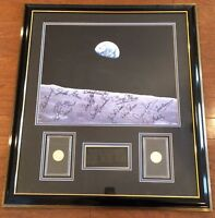 Moon to Earth Limited Edition LITHOGRAPH Astronauts w/Eisenhower Coins 0084/1000
