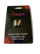 Rocketfish Coaxial Cable Couplers - Gold