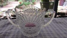 Antique Glass Sugar Bowl  with Purple sun ornate design,High Teas