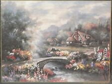 Candamar James Lee COUNTRY BRIDGE PICTURE Embellished Cross Stitch Kit #51304