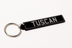 TVR Tuscan Keyring - British UK Number Plate Classic Car Keytag / Keyfob