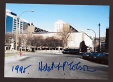 Hartland Molson Montreal Canadiens HOF Signed Montreal Forum Photo dec. HOF !