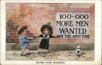 Women's Rights Suffrage Related WORK FOR WOMEN AA Nash c1915 Postcard