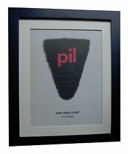 PIL+PUBLIC IMAGE LTD+That What+POSTER+AD+RARE+ORIG 1992+FRAMED+FAST GLOBAL SHIP