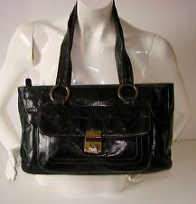 Tula Black Genuine/Real Leather Handbag/Shoulder Bag