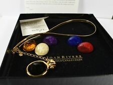 Joan Rivers Omega 6 Colour Interchangeable Omega Necklace Mint in Box