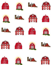 Red Barn Waterslide  / Water Transfer Nail Decals/Nail art