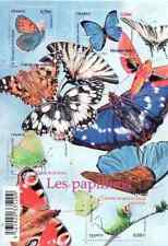 BLOC-FEUILLET DE 4 TIMBRES SÉRIE NATURE LES PAPILLONS