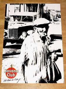 Havana club Promo Publicité Affiche - El Ron De Cuba / Hommes Rhum En Neuf