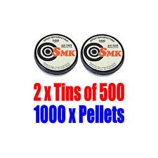 2 x Tins of 500 x .177 Caliber Air Pistol Rifle Pellets