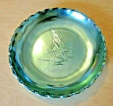 General Extrusions Inc Green Dish with 2 Geese flying Hammered aluminum?