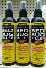 3 Bottles Harris Bed Bug and Lice Killer Home Pest Control Odorless