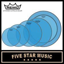 """Remo Emperor Blue Colortone 3 PCE Drum Skin Set 12"""" 13"""" 16"""" Colourtone Heads"""