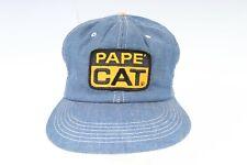 Vintage K-BRAND PAPE' CAT Denim Snapback Hat USA Mens One Size