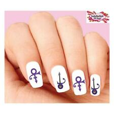 Waterslide Nail Decals Set of 20 - Prince Purple Guitar Assorted