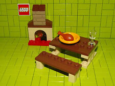 Lego Table / Bench / Fire Split From A Larger Set No Box NEW