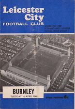 Football Programme>LEICESTER CITY v BURNLEY Apr 1968