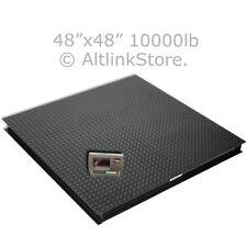 "SAGA Floor /Pallet Scale/Platform Scale Postal 10000 lb*1lb 4'x4' 48"" W/Ind"