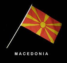 MACEDONIA MACEDONIAN  Hand Waver Flag - 30x45cm