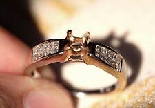 Stunning .60 CTW 20 Princess Cut 14K Gold Diamond Setting For Engagement Ring