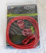 Atlas Laces : Elastic Shoelaces in Red - No Tie System Quick & Easy Lock and Go