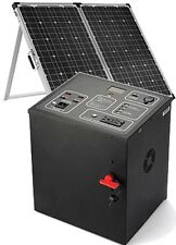 Patriot Portable Solar Power Generator 1500W with 2 Panels, Lithium Iron Battery