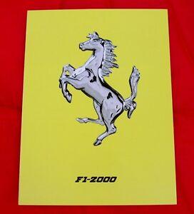 Ferrari Brochure, Press Release F1-2000, Schumacher 1st Title, Ita/Eng text only