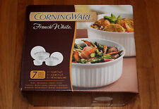 Corningware French White 8-piece Set Casserole 2.5, 1.5, 16oz w/ Lids NIB
