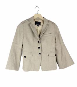 Women's Banana Republic Size 0 Light Brown Tan Blazer Jacket Classic Casual