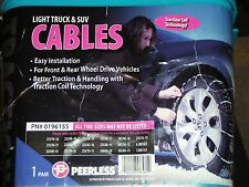 SNOW/TIRE CABLE CHAINS, PEERLESS #0196155, 245/55-18, 235/60-17, 255/35R20