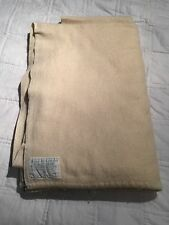 "VINTAGE NATIONAL PRICE CONTROLLED 100% WOOL CREAM BLANKET 58"" W X 88"" L No 654"