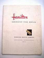 "Stunning 1941 ""Hamilton Watch"" Catalog w/ Beautiful Colored Pictures  *"