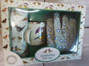 Gardening Gift Set Emma Lawrence Designs. Includes Apron,Gloves, Mug.Brand.New .
